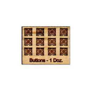 Tiny Wood Buttons Square